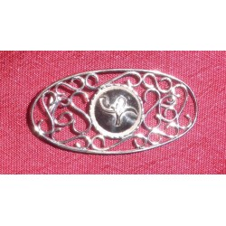 Stirling Silver Protection Pin - cut-out