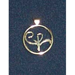 Stirling Silver Logo Pendant (large)